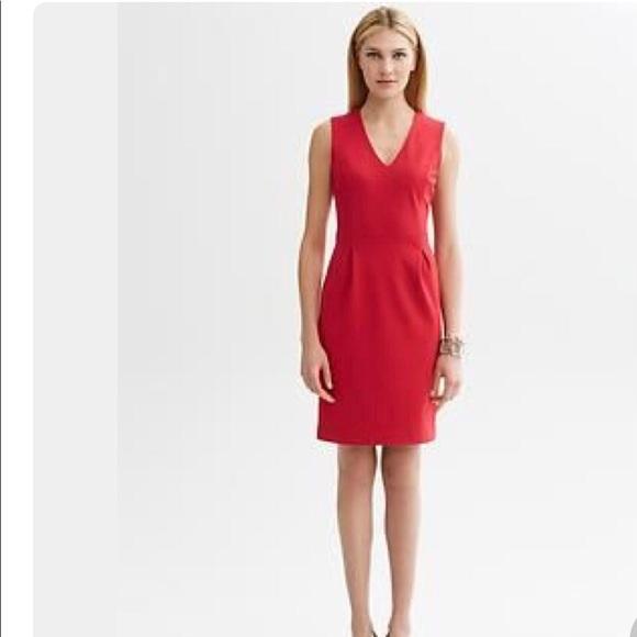 989f788bb02 Banana Republic Dresses   Skirts - Banana Republic Red Ponte v-neck sheath  dress